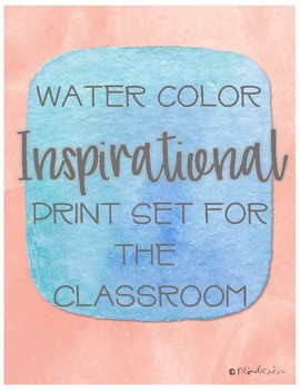 Water Color Inspirational Prints
