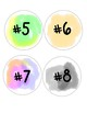 Large Watercolor Numbers 1-32
