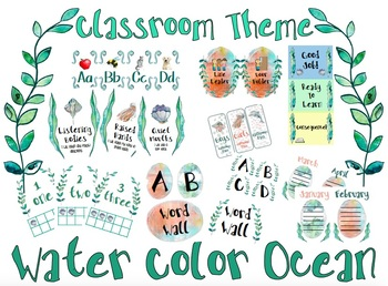 Water Color Ocean Classroom Theme