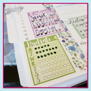 Water Color Planner Stickers