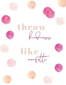 Water Color Polka Dot Wall Quote