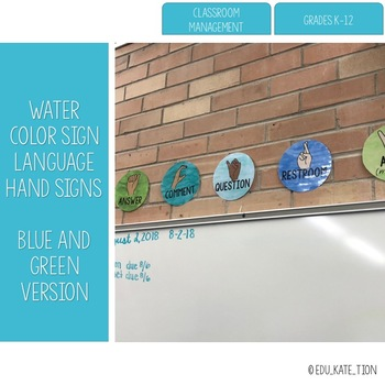 Water Color Sign Language Hand Signs
