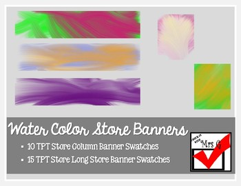 Water Color Store Banner