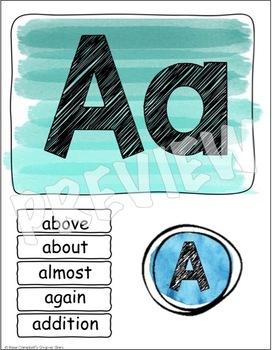 Water Color Theme {Alphabet Line}