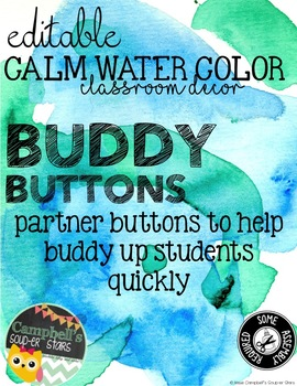Water Color Theme {Buddy Buttons}