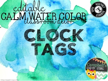 Water Color Theme {Clock Tags)