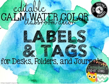 Water Color Theme {Labels)