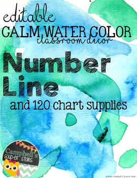 Water Color Theme {Number Line}