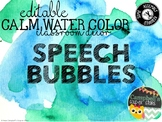 Water Color Theme {Speech Bubbles)