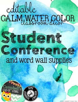 Water Color Theme {Student Conference Organizer)