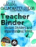 Water Color Theme {Teachers Binder}