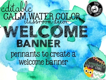 Water Color Theme {Welcome Banner}