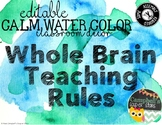 Water Color Theme {Whole Brain Teaching Rules)