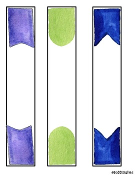 Water Color Themed Binder Labels EDITABLE