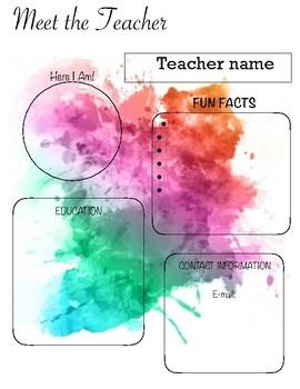 Water Color meet the teacher
