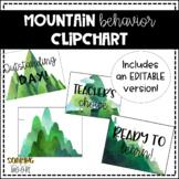 Water Colored Mountain EDITABLE Behavior Clip Chart