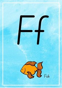 Water Colour Alphabet