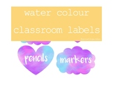 Water Colour Classroom Labels
