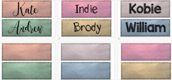 Water Colour/Color Classroom Labels {Editable}