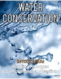 Water Conservation Differentiated Close Reading Passages & Questions