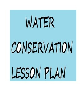 Water Conservation Lesson Plan