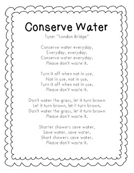 Water Conservation Worksheets For Kindergarten