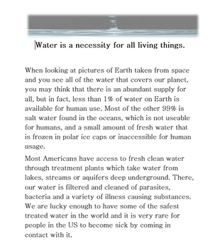 Earth Day and Water Conservation ... What Can I Do?
