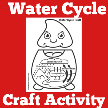Water Cycle Activity | Water Cycle Kindergarten | Water Cycle Craft