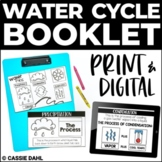 Water Cycle Booklet (Print & Digital) | Distance Learning