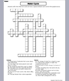The Water Cycle Worksheet/ Crossword Puzzle
