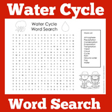 Water Cycle Activity | Water Cycle Word Search