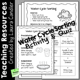 Water Cycle Sorting Activity and Quiz