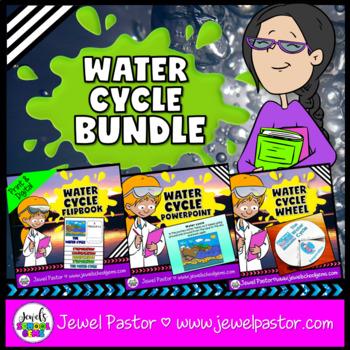 Water Cycle Activities BUNDLE (PowerPoint and Flipbook)
