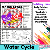 Water Cycle Activity: Water Cycle Vocabulary: Water Cycle Word Search