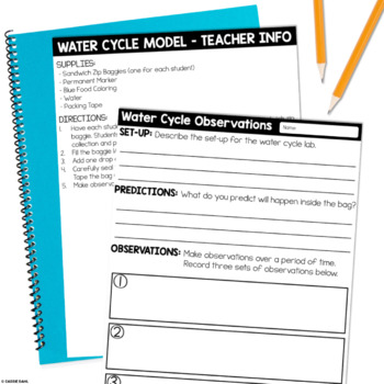 Water Cycle Mini-Unit (Informational Text, Comprehension Questions, & More)