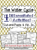 Water Cycle Activities! Cut-and-Paste and Fill-In