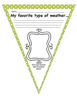 Water Cycle Math and Literacy Activity Pack-Includes Student Pennant Banner