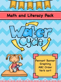 Water Cycle Math and Literacy Activity Pack-Includes Stude