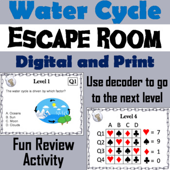 Water Cycle Activity: Escape Room - Science