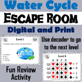 Water Cycle Activity: Breakout Escape Room (Earth Science