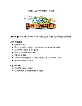 Water Cycle Animation Project STEM