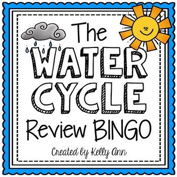 Water Cycle Activity - Review Bingo