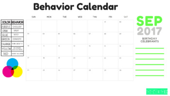 September Behavior Chart