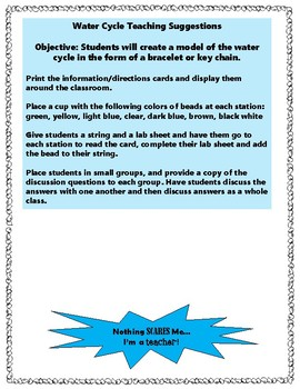 Water Cycle Hands-On Lab and Activities
