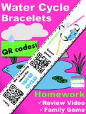Water Cycle Homework Bracelets with QR Codes {Kindergarten Homework}