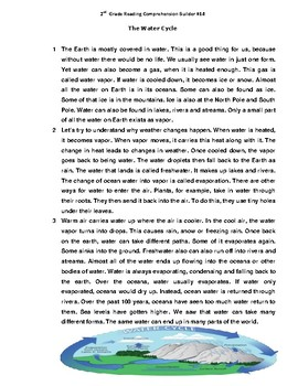 Water Cycle Bundle-(3)Reading Comprehension Passages, Picture ...