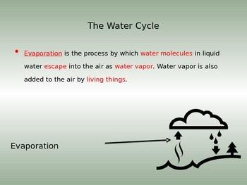 Water Cycle CLOZE NOTES Key