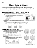 Water Cycle & Climate Unit Packet