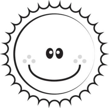 Water Cycle - Clip Art (Cloud, Sun, Mountain, Rain, Arrows, Tree)