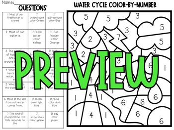Water Cycle Color-By-Number
